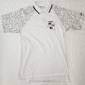 Reebok tennis polo shirt men sz M vintage 90s